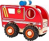 small foot 11076 Einsatzfahrzeug Krankenwagen aus Holz, mit Ladefläche und gummierten Rädern, ab...