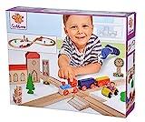 Eichhorn – Schienenbahn – 35-teilige Holzeisenbahn für Kinder ab 3 Jahren, mit Schienen, Zug,...