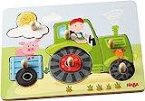 HABA 302535 - Greifpuzzle Peters Bauernhof, 6-teiliges Holzpuzzle mit großen, griffigen...