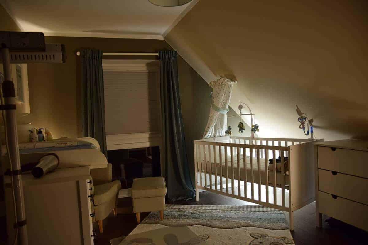 Nachtlicht im Babyzimmer mit Philips Hue umgesetzt