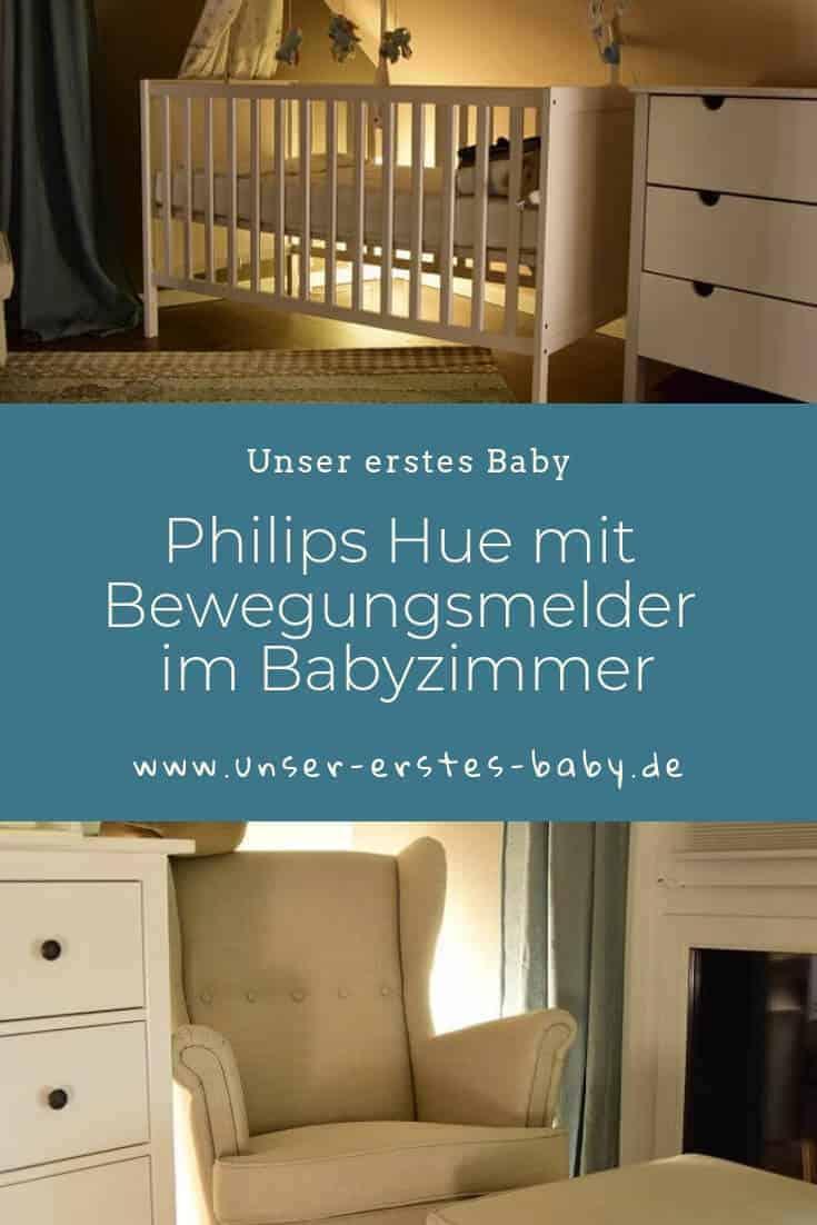 Wir verwenden Philips Hue mit einem Bewegungsmelder, was sehr gut ist, wenn man mit Baby ins Zimmer kommt und das Licht automatisch an geht
