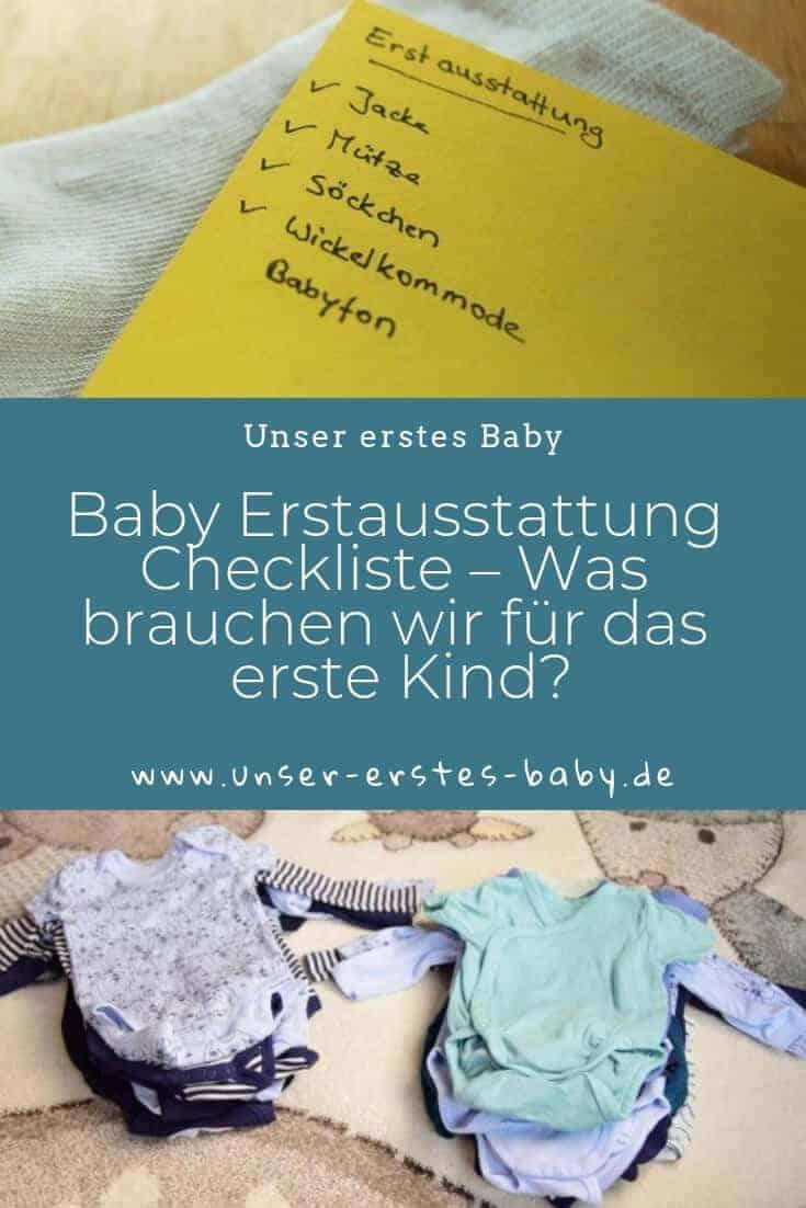 Baby Erstausstattung Checkliste – Was brauchen wir für das erste Kind