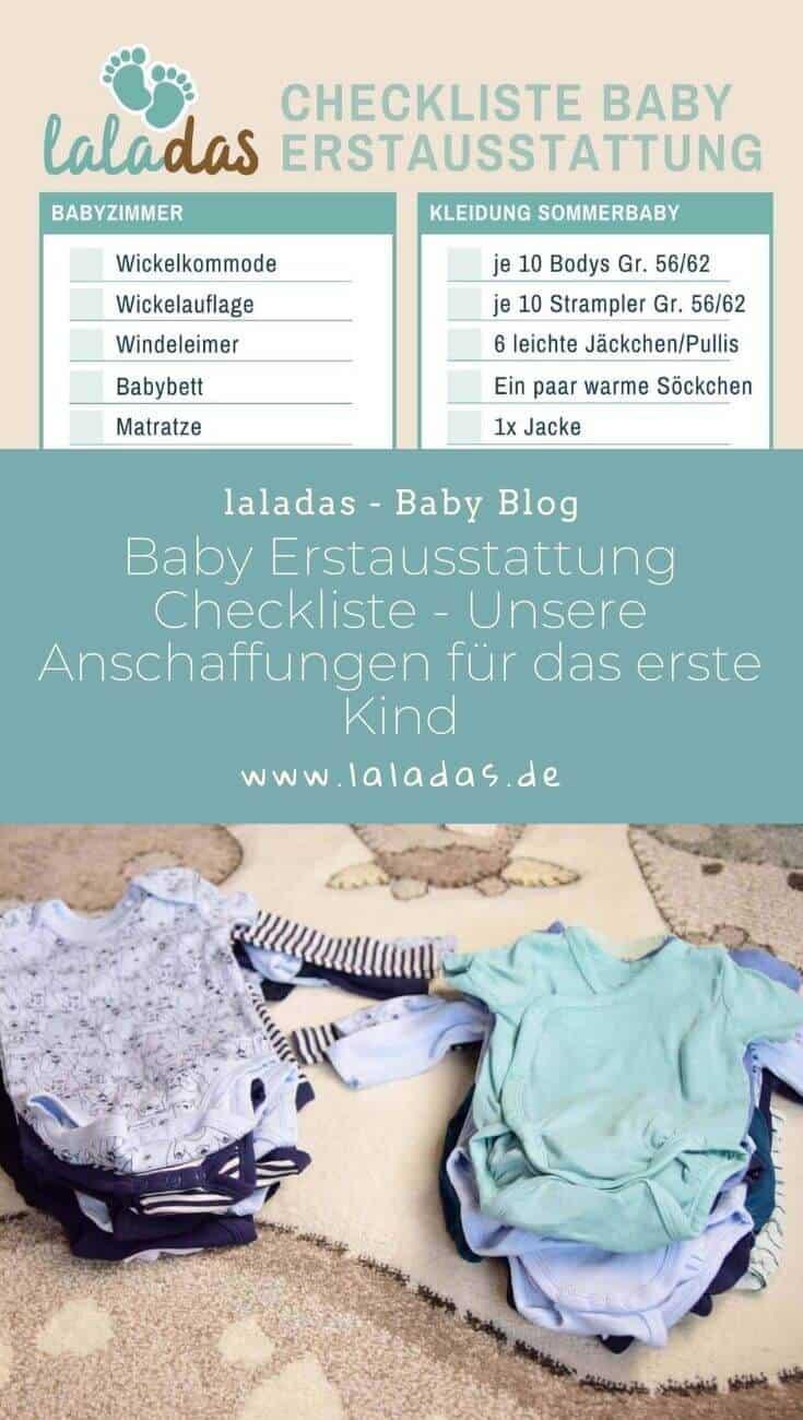Baby Erstausstattung Checkliste - Diese Anschaffungen haben wir für unser erstes Kind getätigt