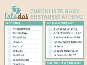 Baby Erstausstattung Checkliste – Was brauchen wir für das erste Kind?
