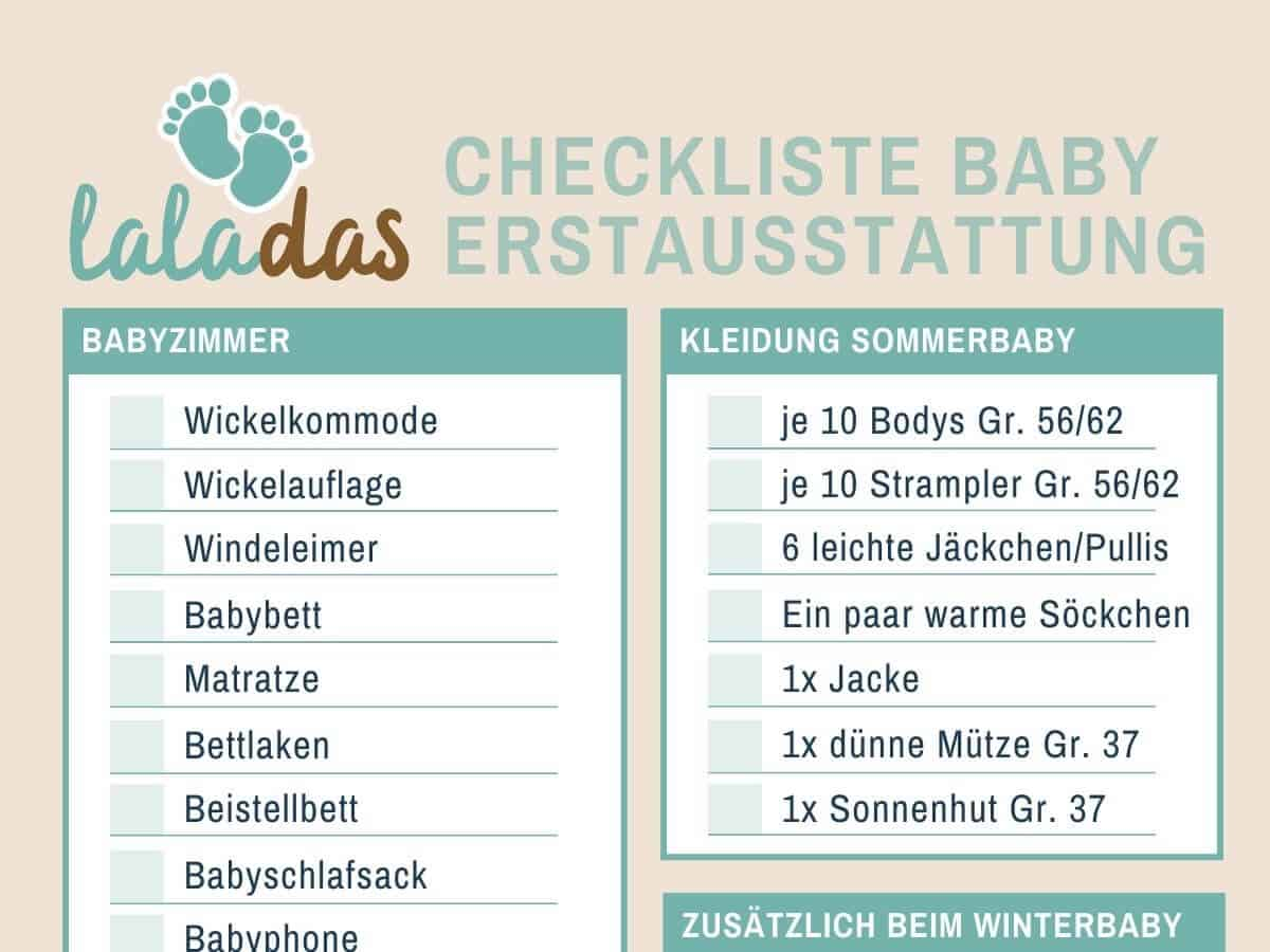 Baby Erstausstattung Checkliste - Was wir für unser erstes Kind gekauft haben