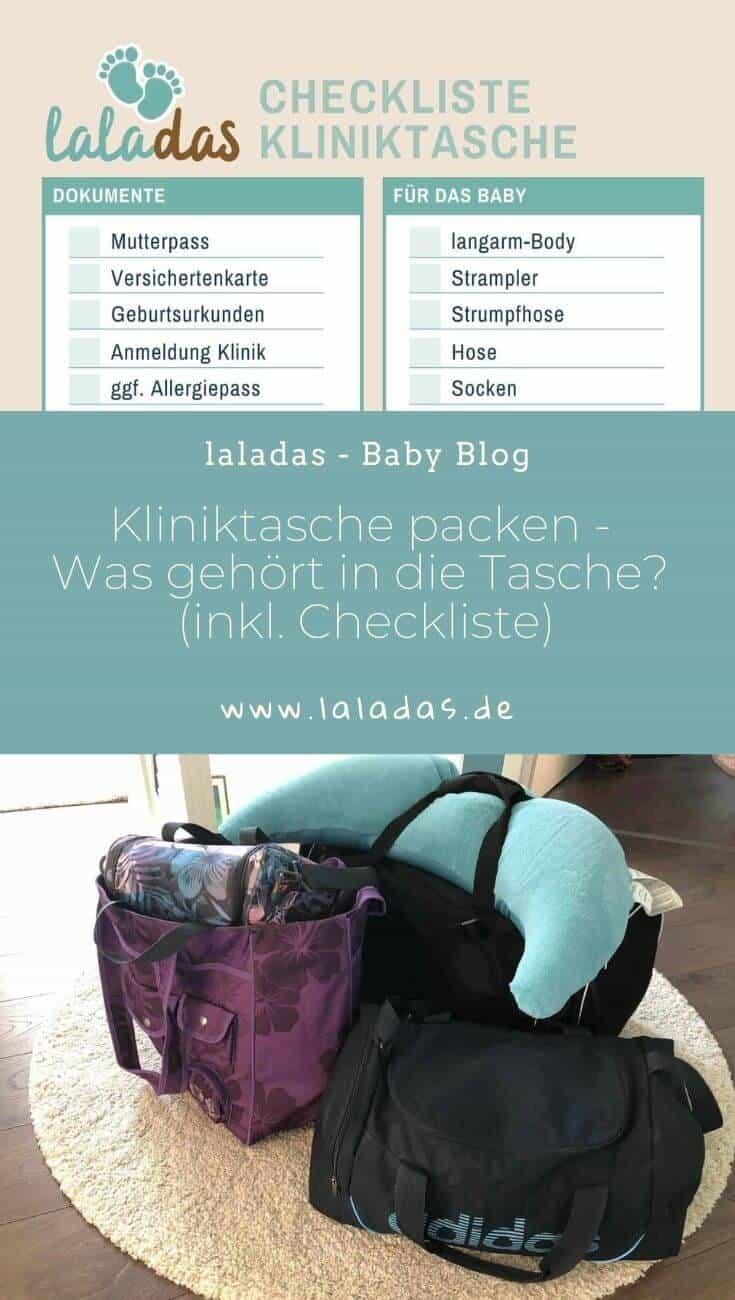 Checkliste Kliniktasche packen – Was gehört in deine Krankenhaustasche (Kliniktasche Checkliste als PDF-Download)