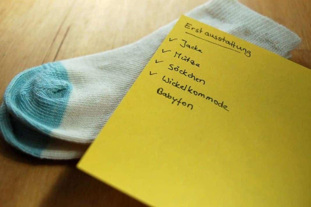 Erstlingsausstattung Checkliste der Baby Erstausstattung