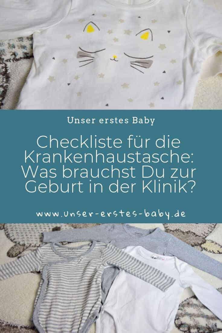Checkliste für die Krankenhaustasche - Was brauchst Du zur Geburt in der Klinik und was kannst Du Zuhause lassen