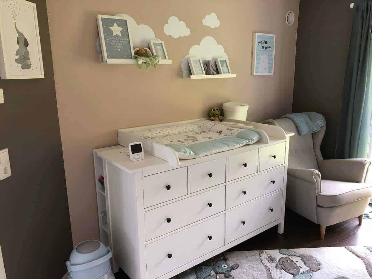 Dekoelemente lockern das Babyzimmer auf und sorgen für Atmosphäre