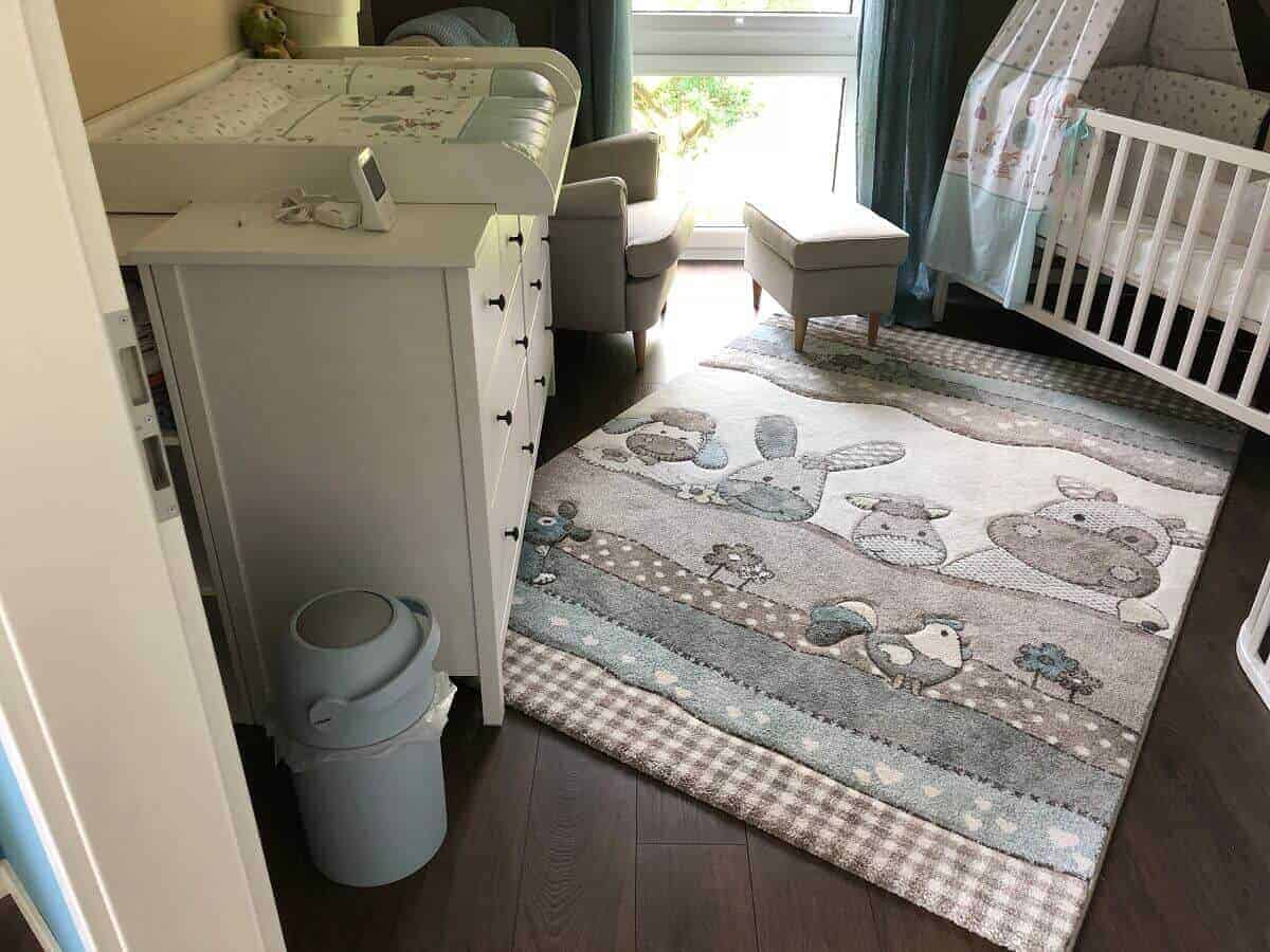 Der Teppich im Babyzimmer ist das absolute Highlight und ein totaler Hingucker