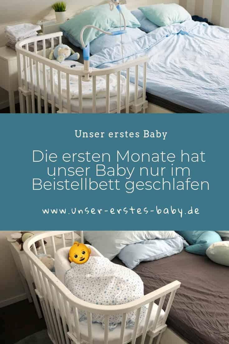Die ersten Monate hat unser Baby nur im Beistellbett im Elternschlafzimmer geschlafen
