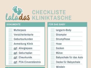 Kliniktasche packen – Was gehört in die Tasche? (Kliniktasche Checkliste)