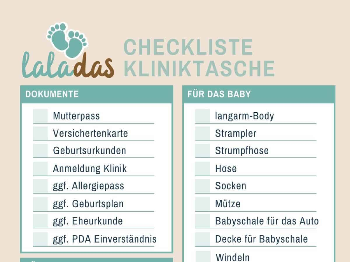 Kliniktasche Geburt Checkliste - Was wir für die Geburt alles mitgenommen haben