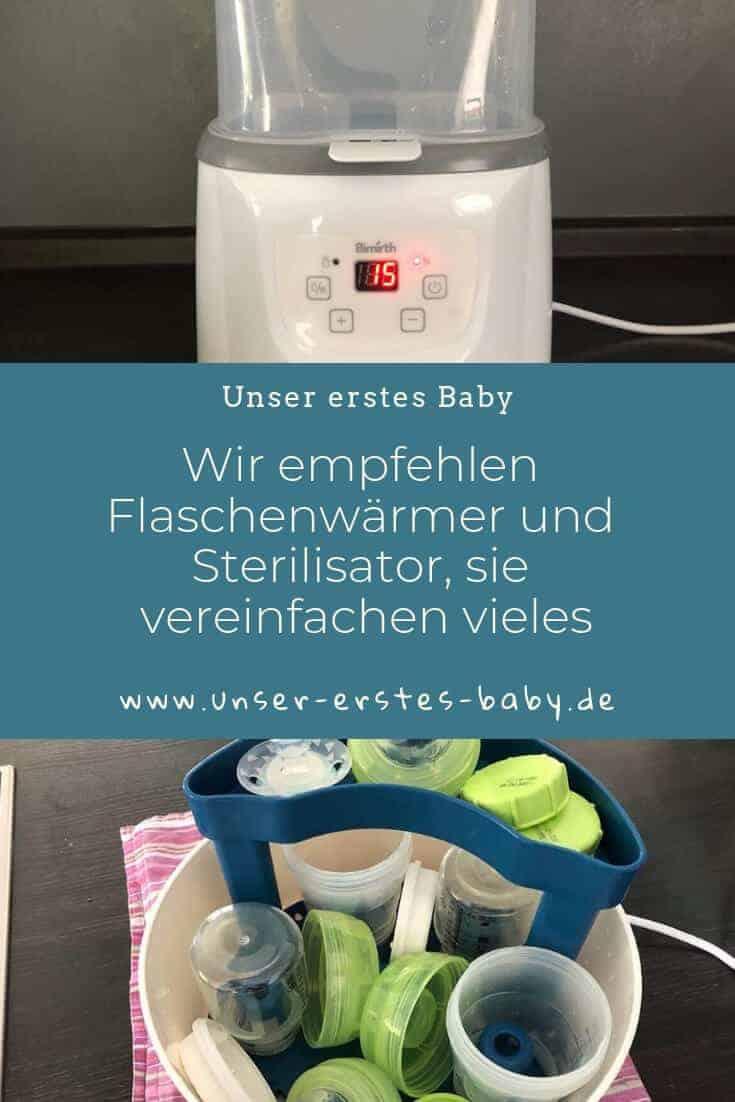 Wir empfehlen Flaschenwärmer und Sterilisator, sie vereinfachen gerade zu Beginn vieles