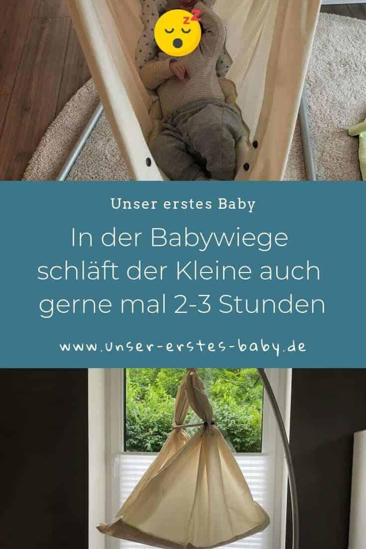 In der Babywiege schläft der Kleine auch gerne mal 2-3 Stunden, weshalb wir den Einsatz der NONOMO Federwiege absolut empfehlen können