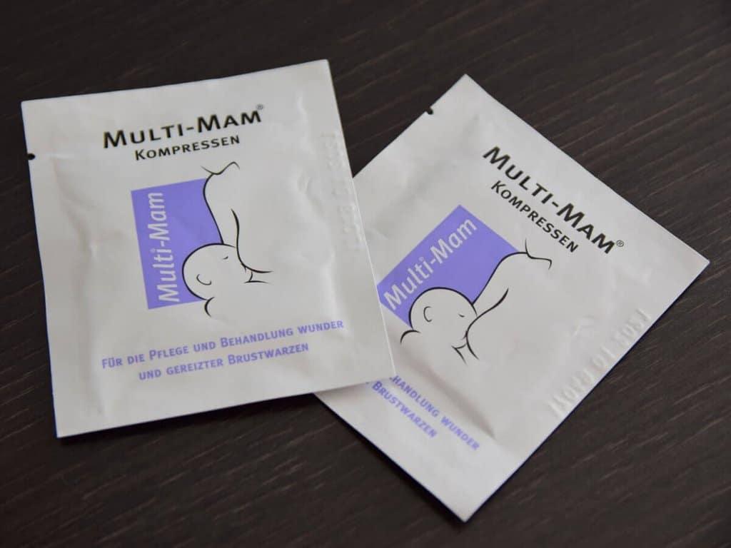 Multi MAM Kompressen zur Wundheilung von entzündeten Brustwarzen