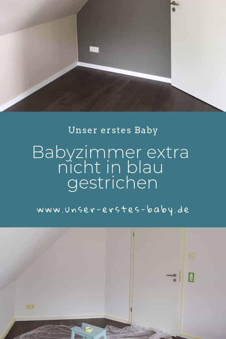 Wir haben das Babyzimmer extra nicht in blau gestrichen, sondern uns für beige und braun entschieden