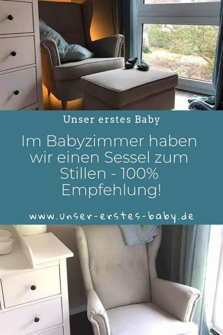 Im Babyzimmer haben wir einen Sessel zum Stillen - 100% Emfehlung