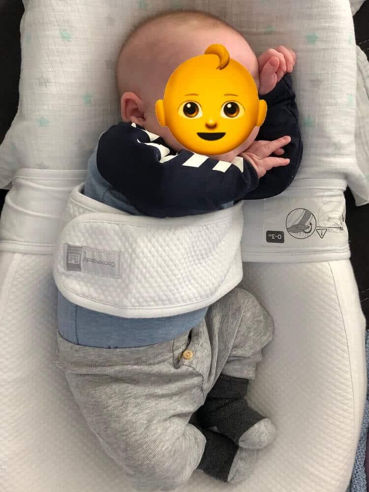 Unser kleiner Mann liebte es, seitlich in der Cocoonababy Babymatratze zu schlafen