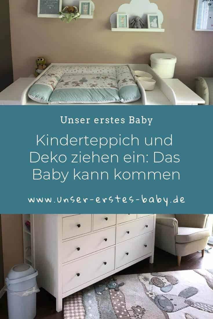 Kinderteppich und Deko ziehen ein - Das Baby kann kommen