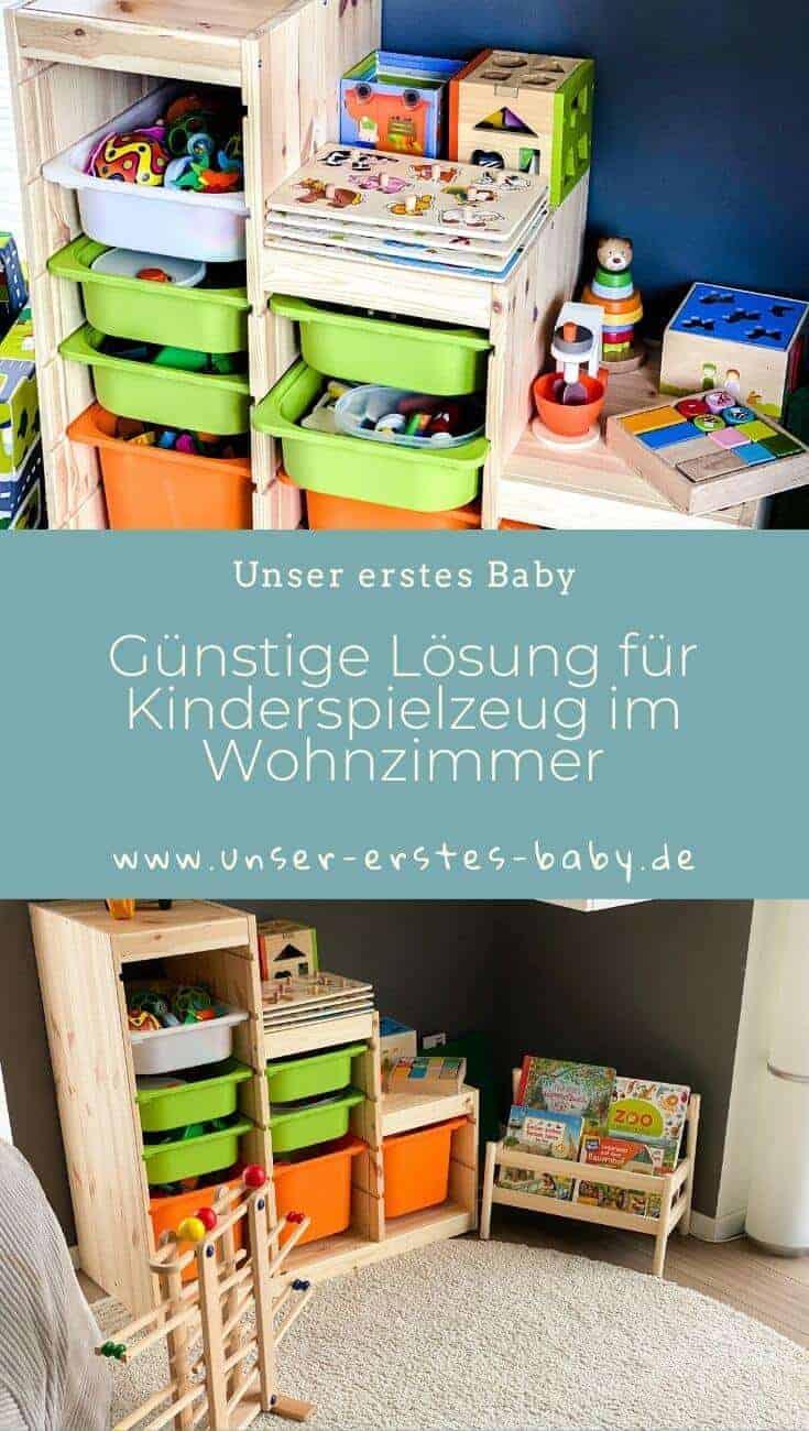 Unsere günstige Lösung für das Kinderspielzeug im Wohnzimmer