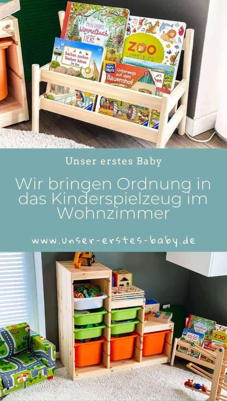 Wir bringen Ordnung in das Kinderspielzeug im Wohnzimmer