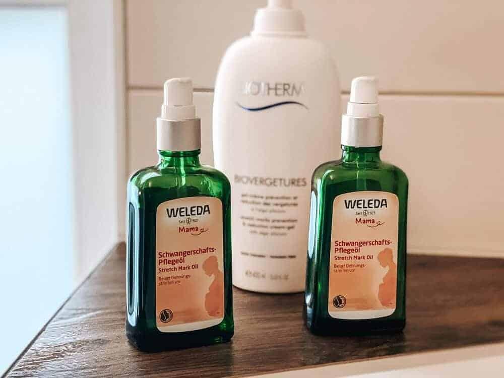 Schwangerschafts-Pflegeöl - Meine favorisierten Produkte, um Schwangerschaftsstreifen vorzubeugen
