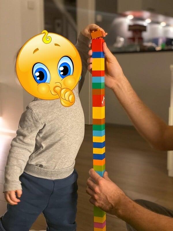 Lego Duplo ab 1 - Der Einjährige hat schon fleißig gestapelt