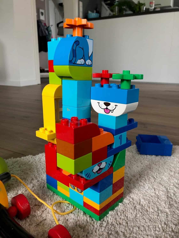 Lego Duplo ab 1 Jahr steht in verschiedenen Sets zur Verfügung, wobei diese bei uns nicht ganz nach Plan aufgebaut wurden