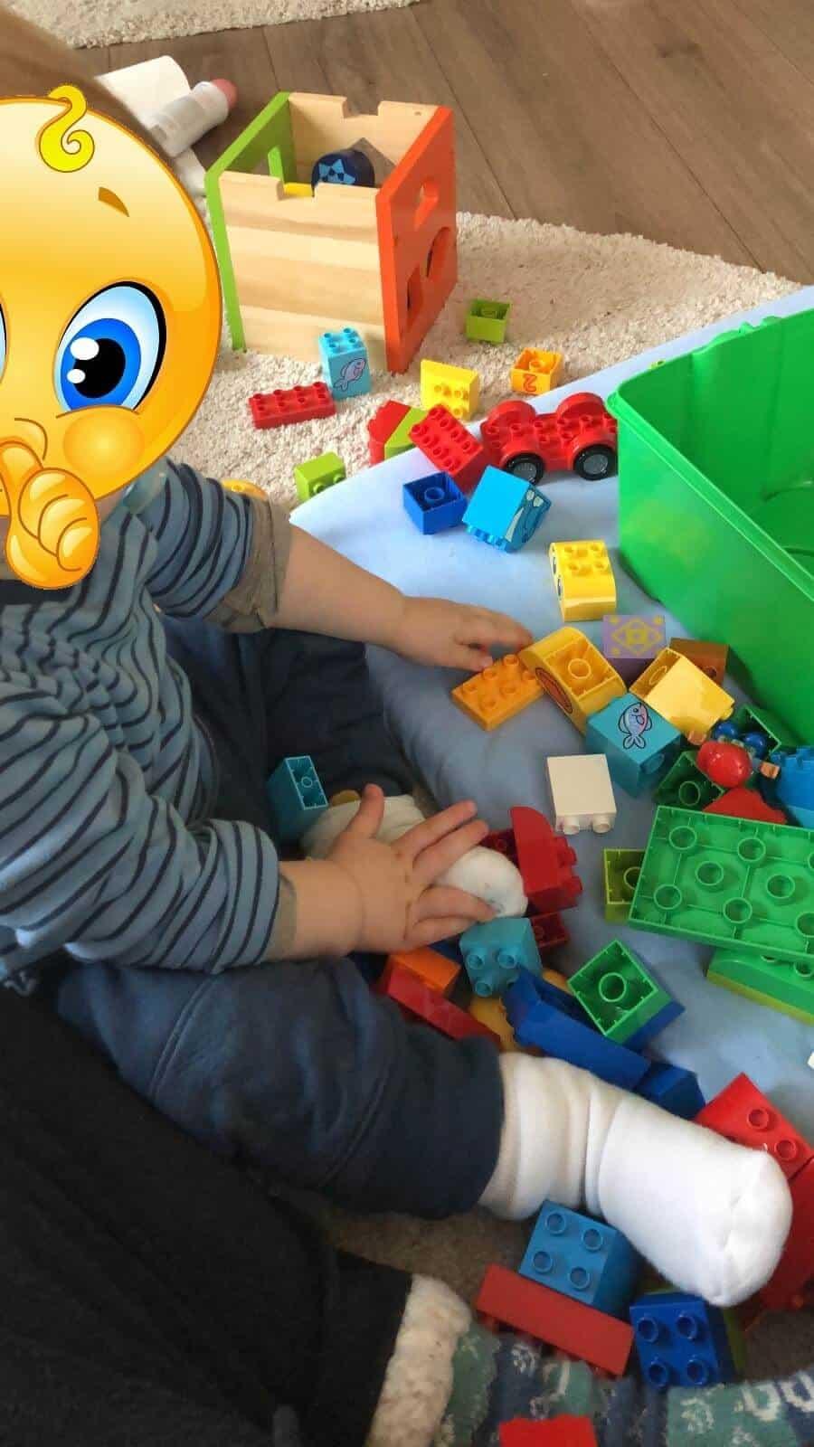 """Lego Duplo zum ersten Geburtstag - Toll ist, dass man das Duplo immer wieder erweitern kann - gerade zu """"kleineren"""" Gelegenheiten wie Ostern eine tolles Geschenk"""