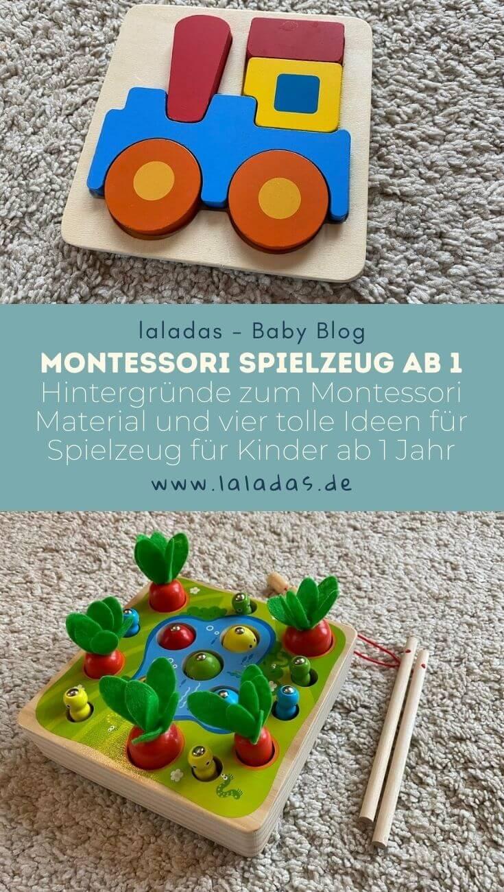 Montessori Spielzeug ab 1 - Hintergründe zum Montessori Material und vier tolle Ideen für Spielzeug für Kinder ab 1 Jahr