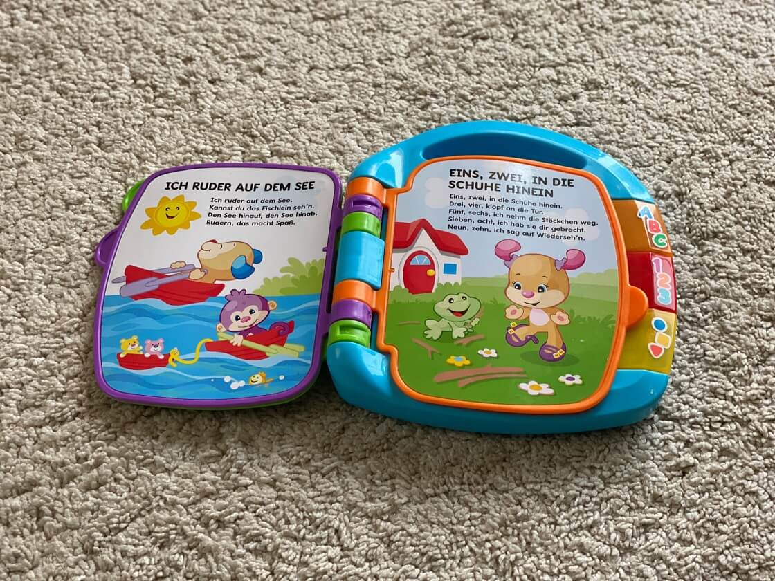 Spielzeug mit Musik ab 1 Jahr - Bücher wie dieses spielen klassische Lieder wie Backe Backe Kuchen